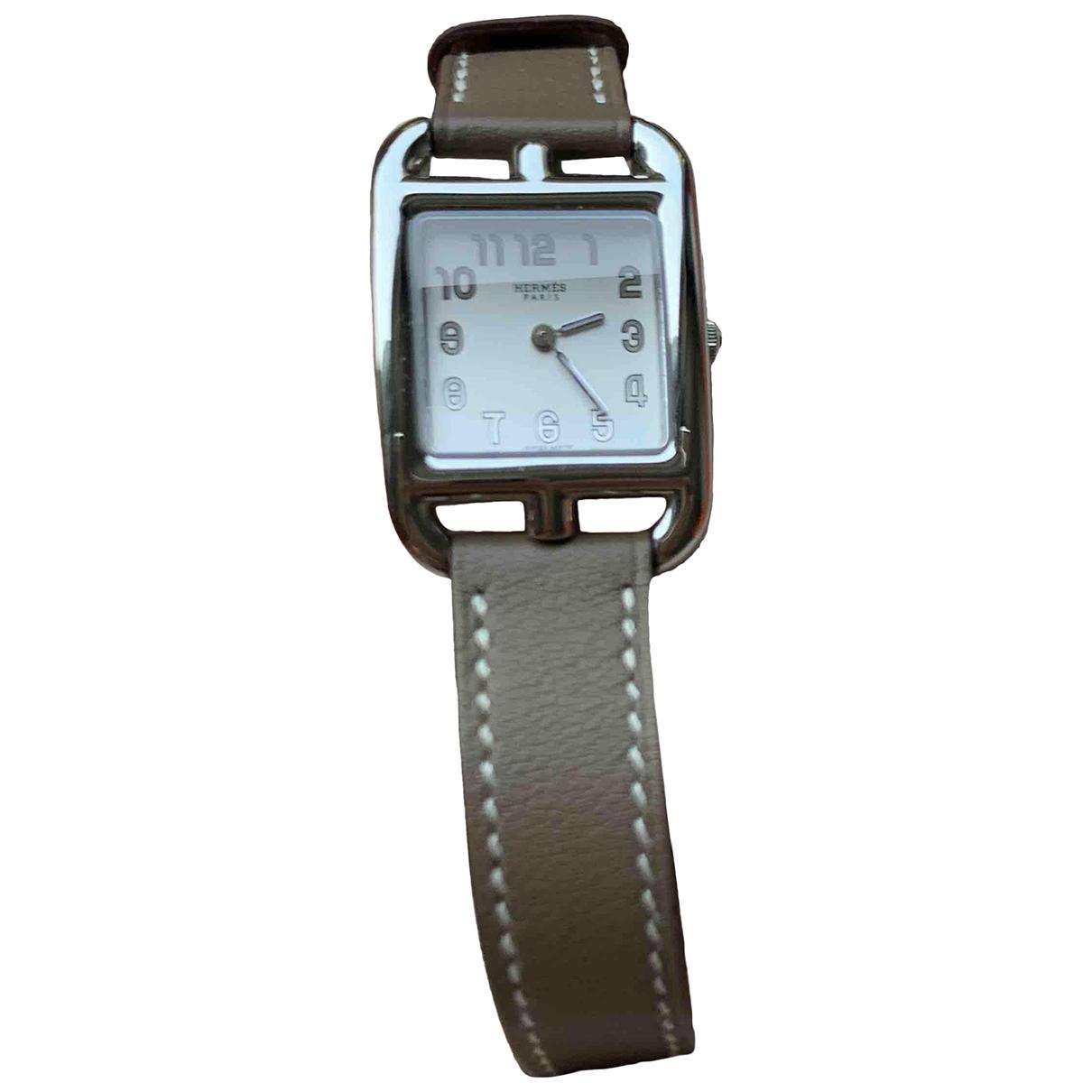 Hermes Cape Cod Uhr in  Grau Stahl