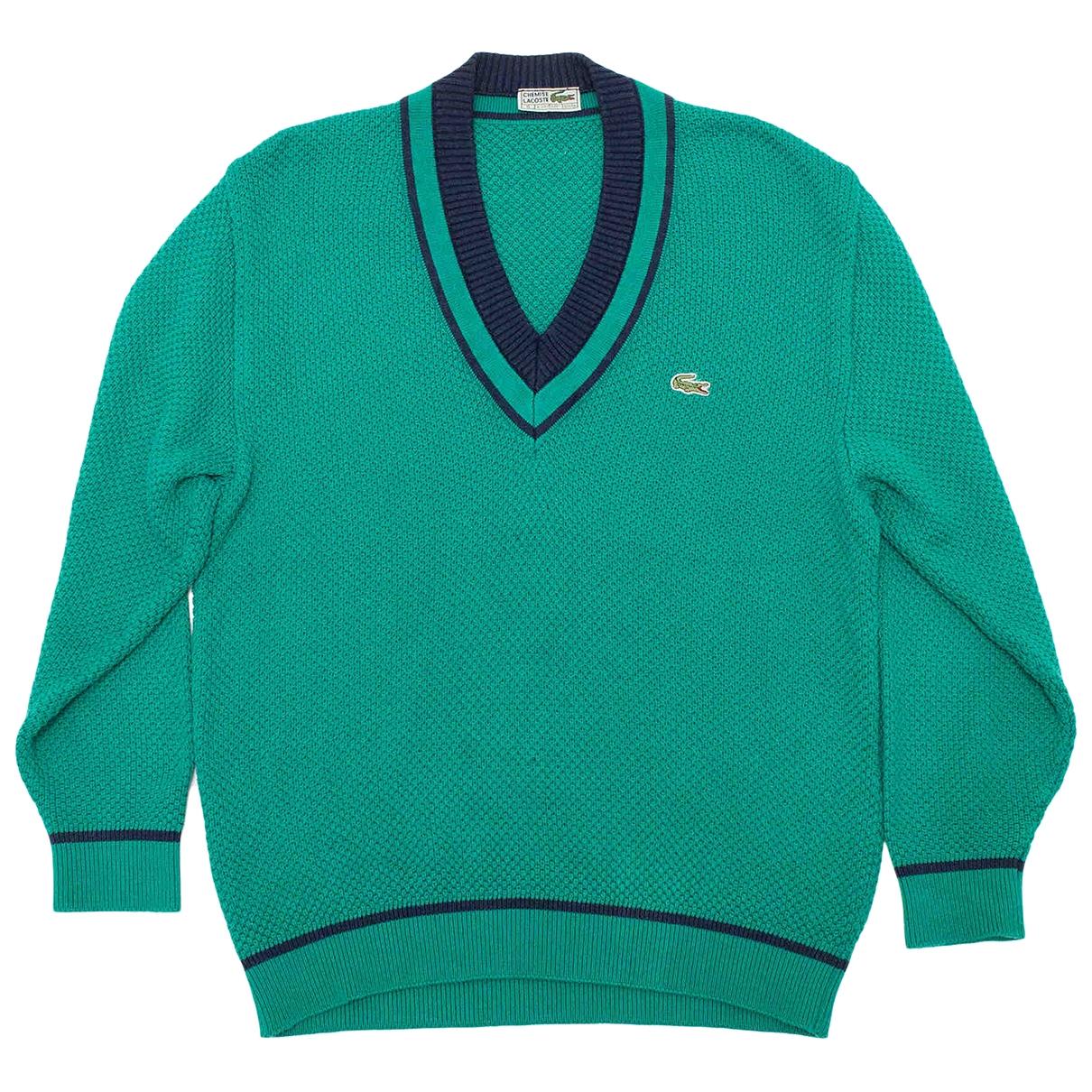 Lacoste \N Pullover.Westen.Sweatshirts  in  Gruen Baumwolle