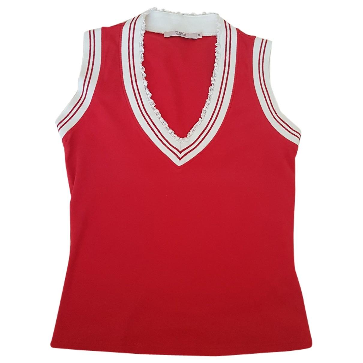 Red Valentino Garavani \N Pullover in  Rot Baumwolle