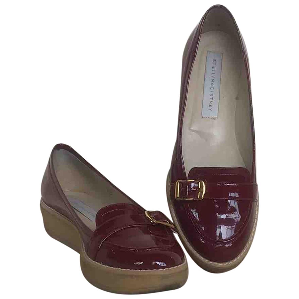 Stella Mccartney \N Burgundy Cloth Flats for Women 39 EU