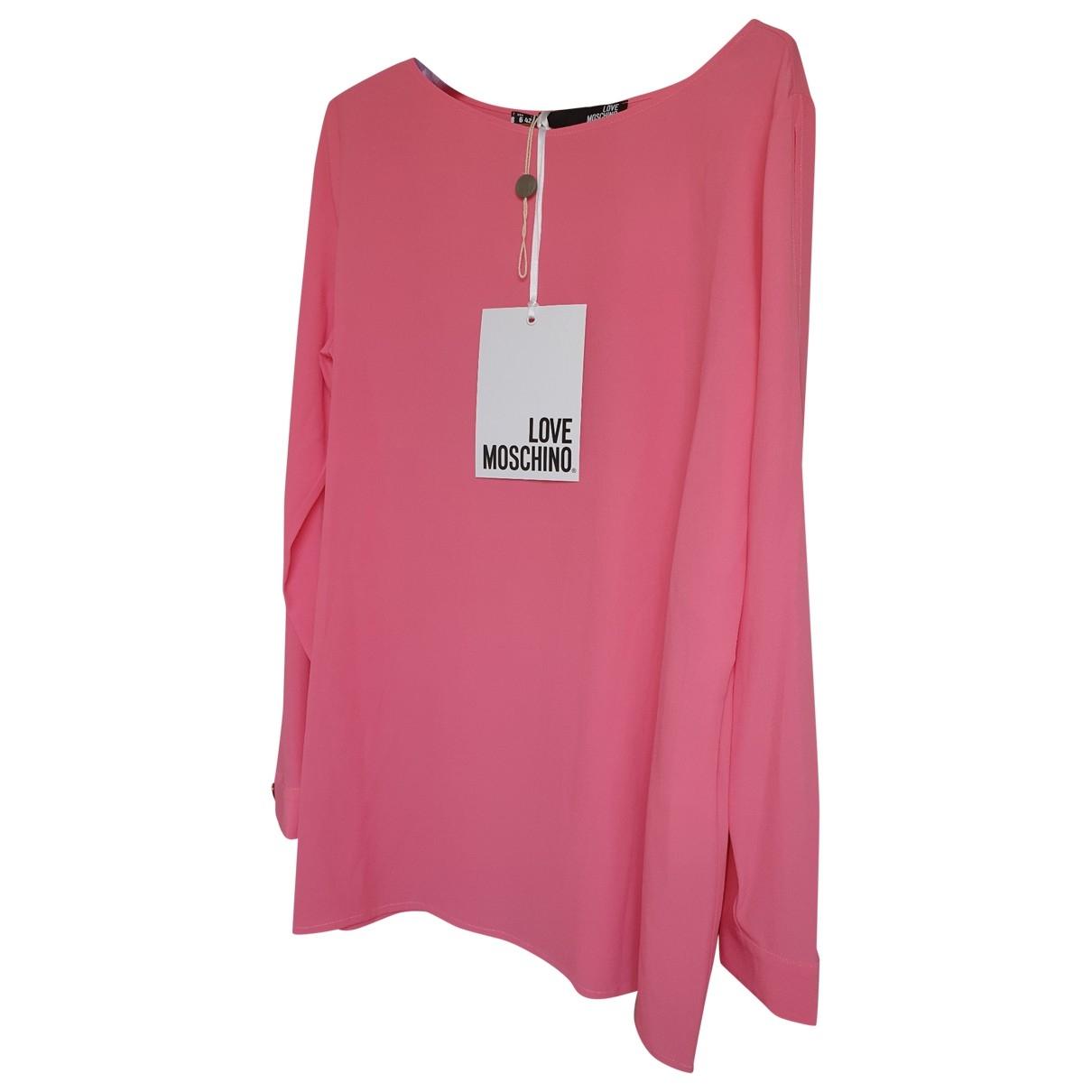 Moschino Love - Top   pour femme en soie - rose