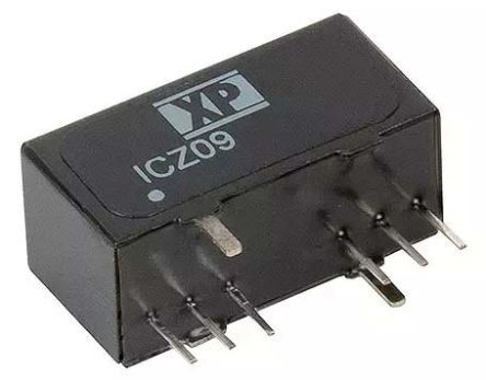 XP Power 9W Isolated DC-DC Converter Through Hole, Voltage in 9 → 18 V dc, Voltage out 9V dc