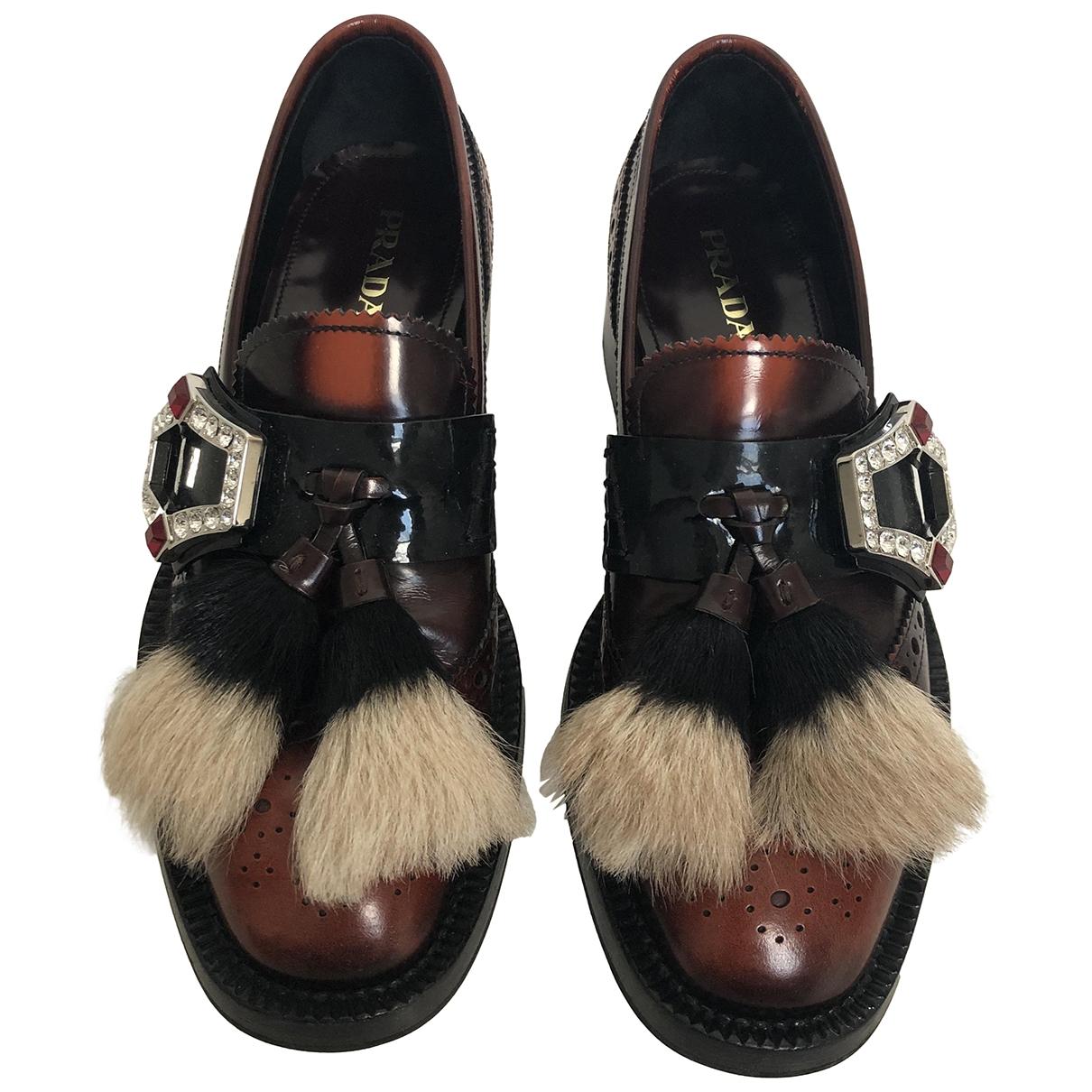 Prada \N Multicolour Leather Flats for Women 38 IT