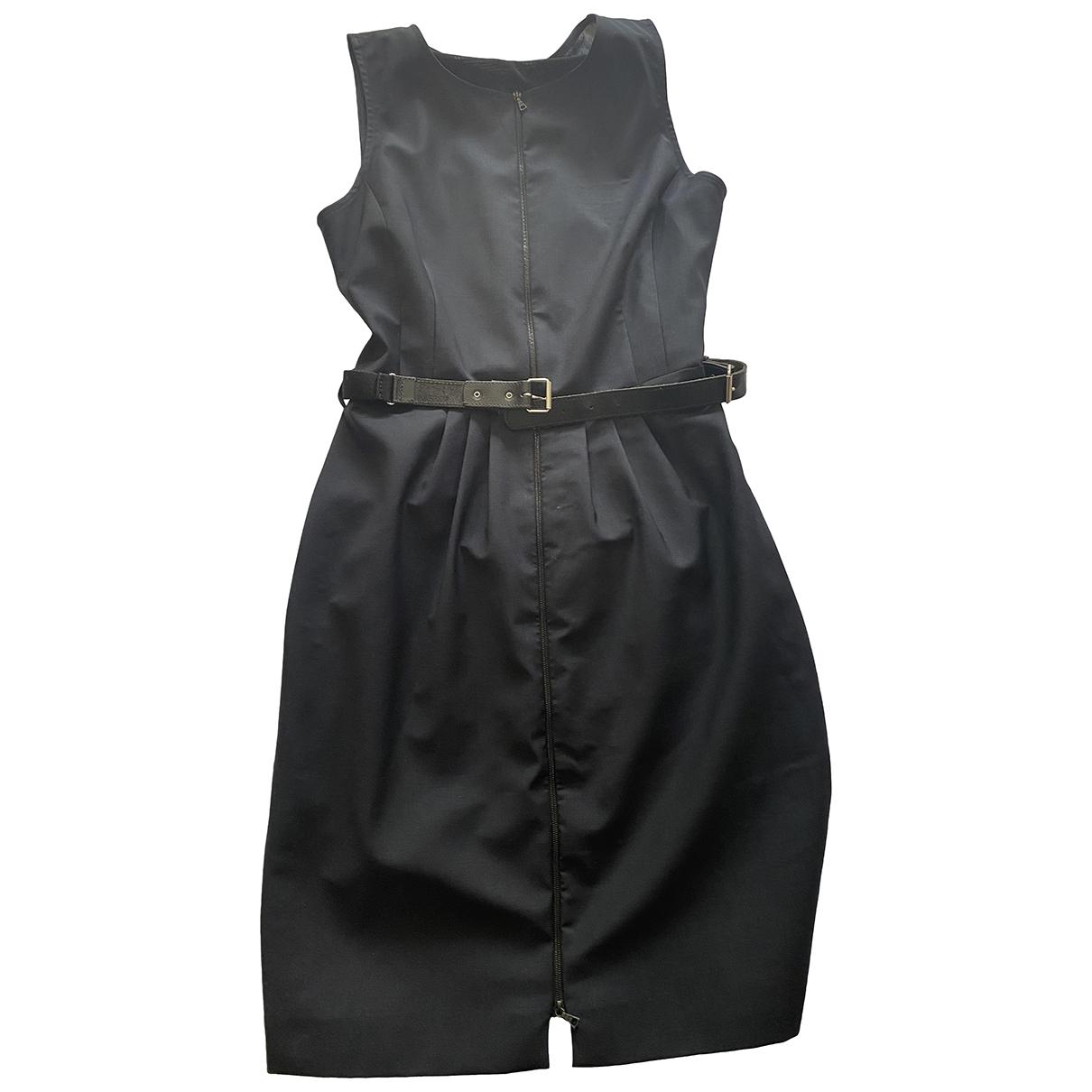 Bastyan \N Kleid in  Marine Wolle