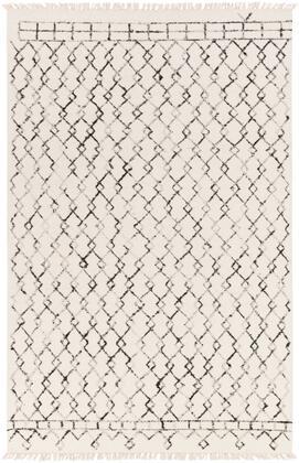 Nettie NET-1000 6' x 9' Rectangle Global Rug in Cream