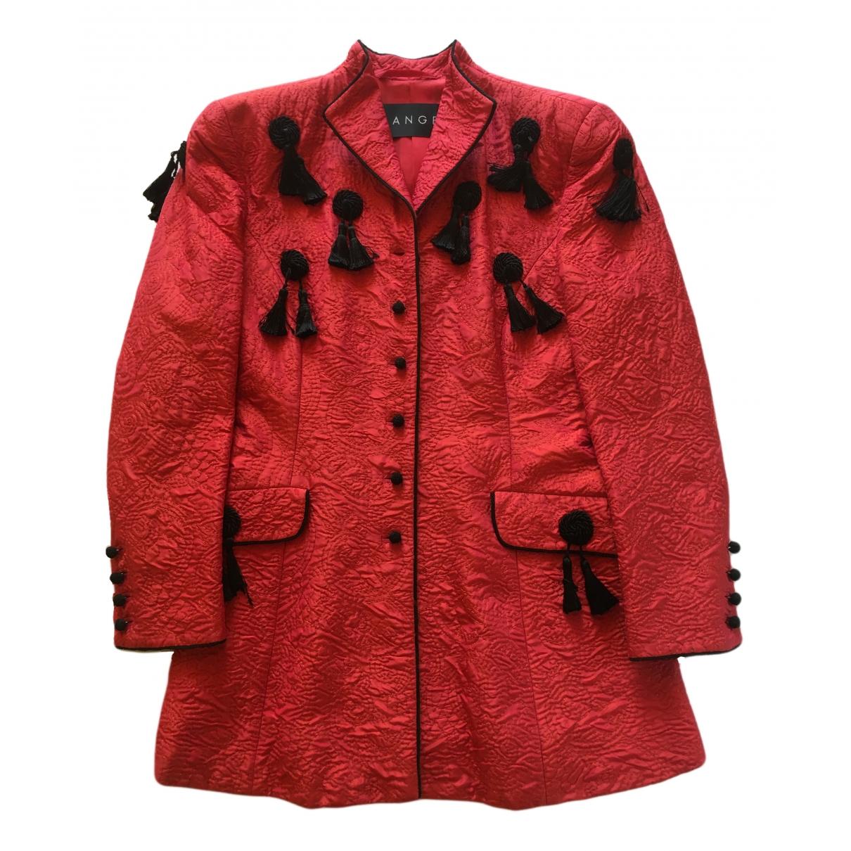 Rena Lange - Veste   pour femme en soie - rouge