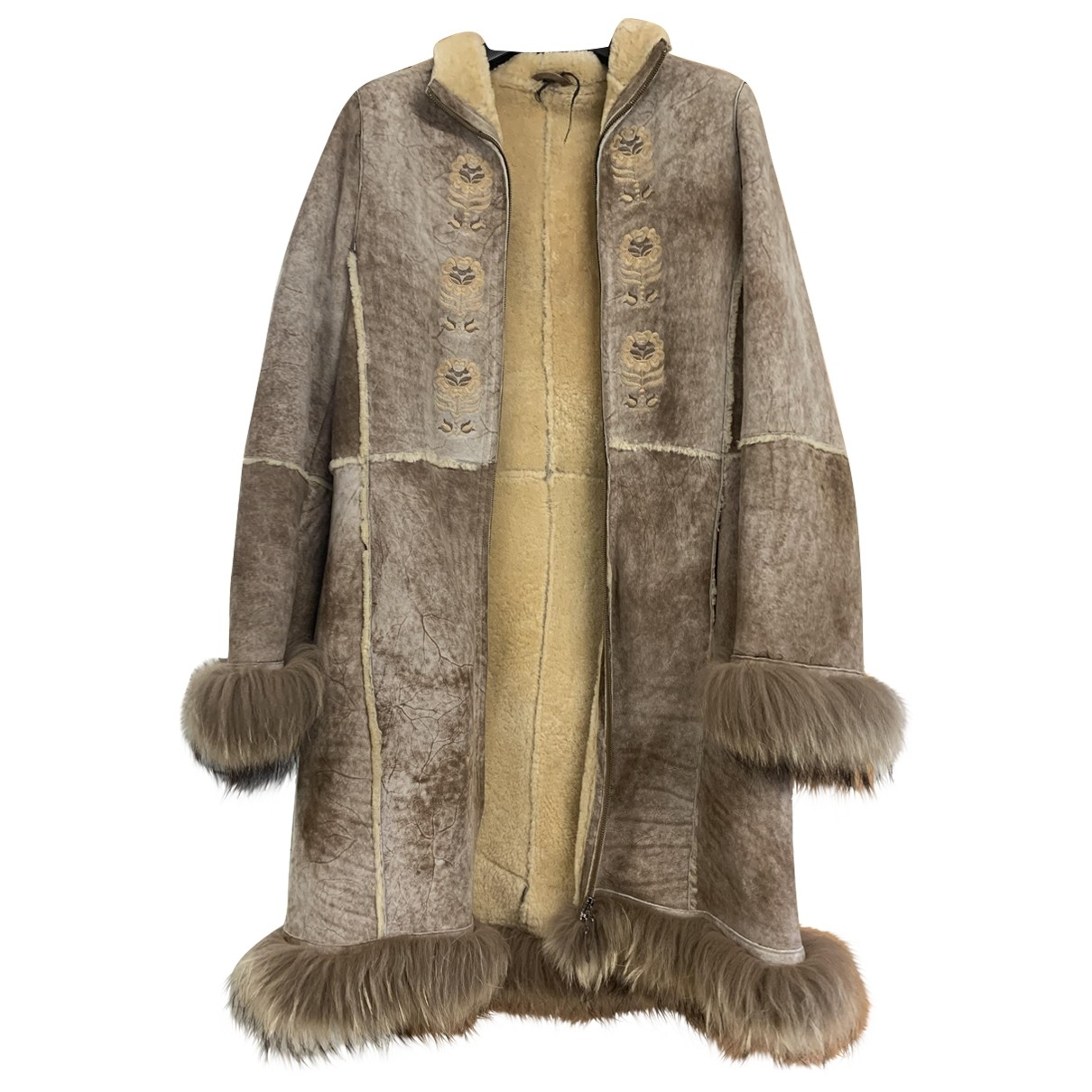 Non Signé / Unsigned \N Brown Shearling coat for Women M International