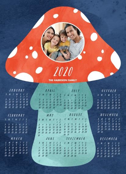 Calendar 5x7 Metal Easel Panel, Home Décor -Amanita Muscaria
