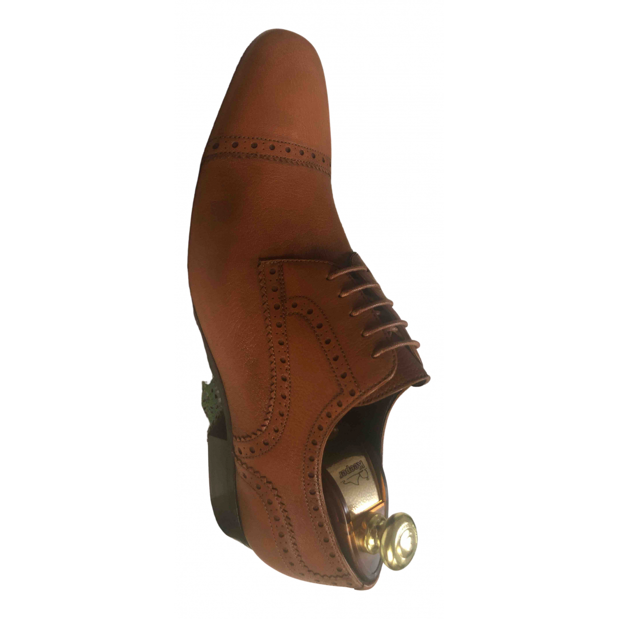 Bally \N Camel Leather Lace ups for Men 9 US