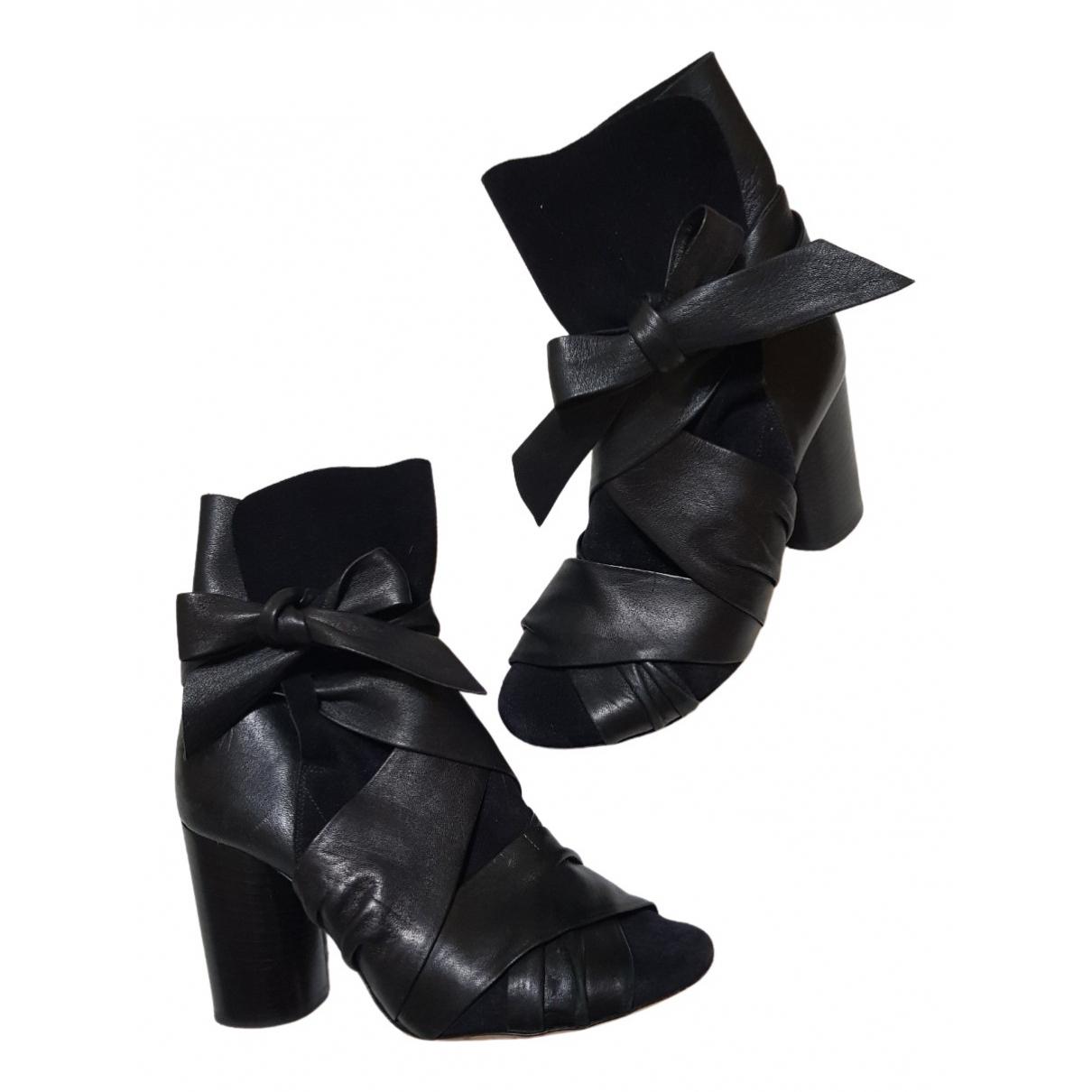 Isabel Marant Garett Black Suede Ankle boots for Women 36 EU