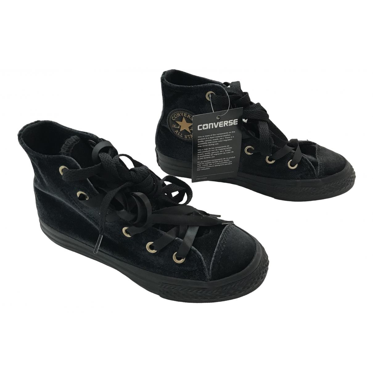 Converse - Baskets   pour enfant en velours - noir
