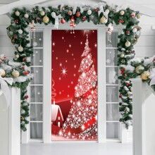 Christmas Tree Print Door Sticker