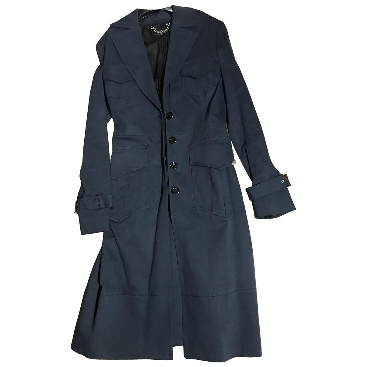 Elisabetta Franchi N Blue Cotton coat for Women 42 IT