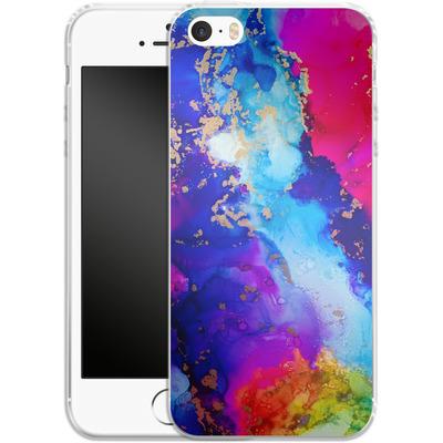 Apple iPhone 5 Silikon Handyhuelle - Cosmic Swirl II von Stella Lightheart