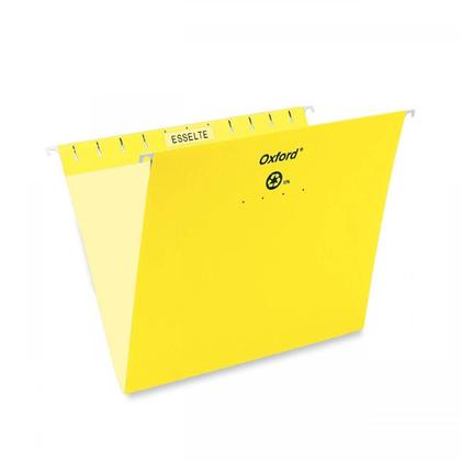 Pendaflex@ Essentials Esselte Oxford Colored Hanging File Folders - Yellow ,Letter