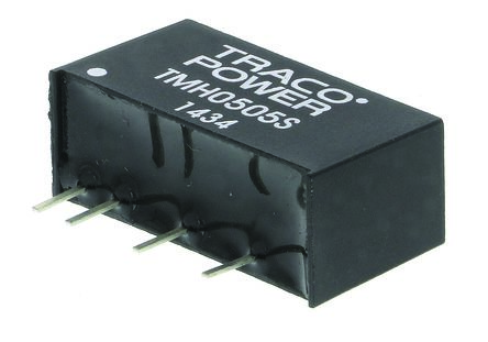 TRACOPOWER TMH 2W Isolated DC-DC Converter Through Hole, Voltage in 4.5 → 5.5 V dc, Voltage out 5V dc