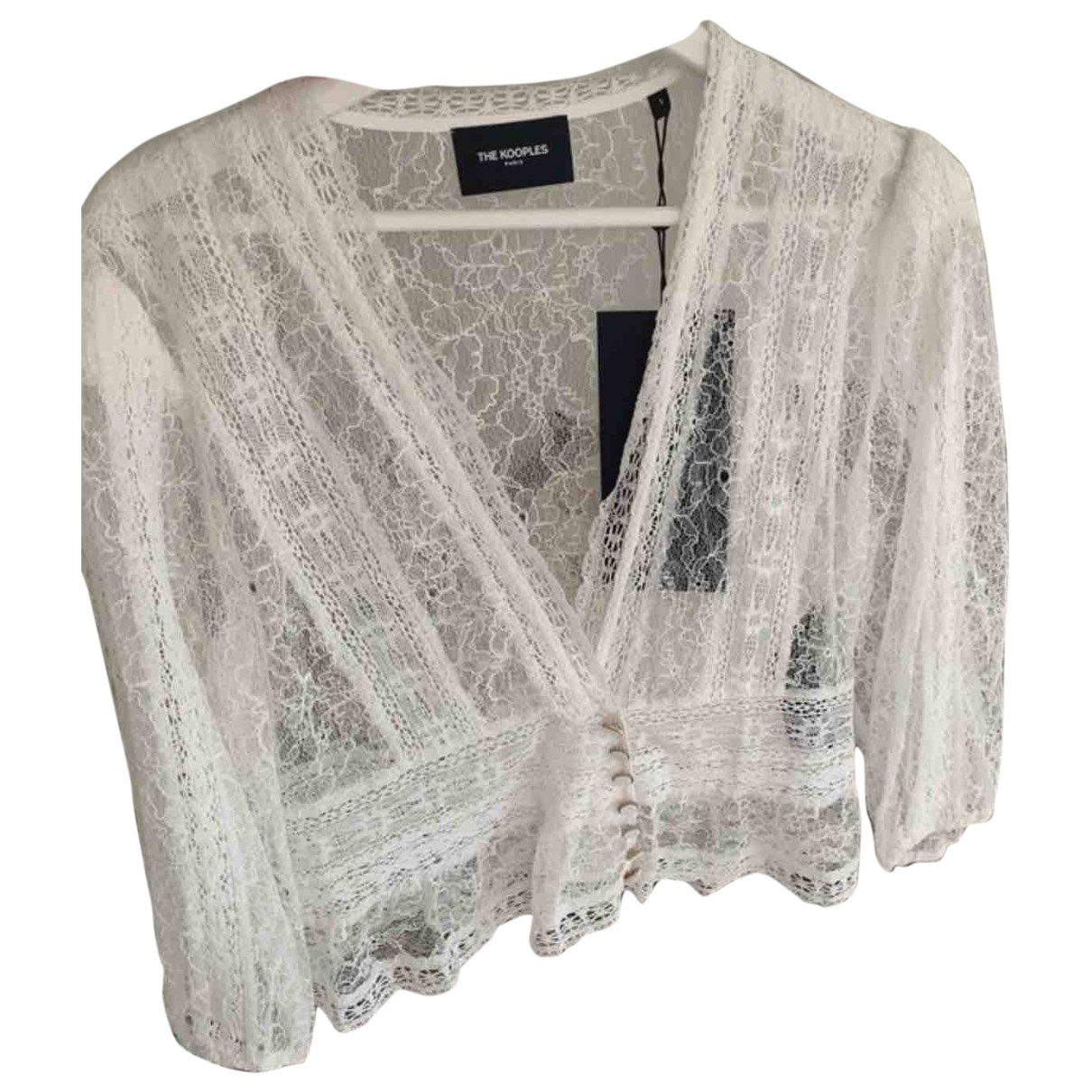 The Kooples - Top Spring Summer 2019 pour femme en coton - blanc