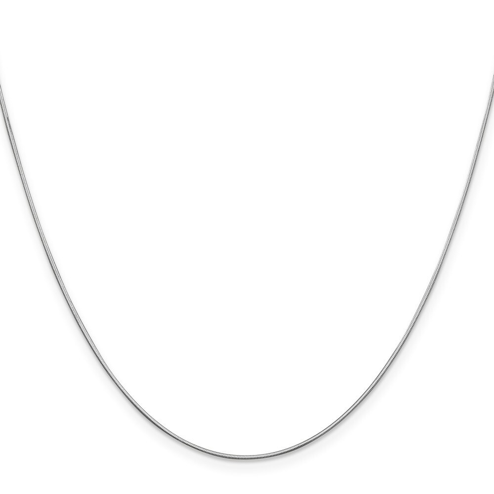 Curata 14k White Gold Solid 0.8mm Diamond Cut Octagonal Snake Chain (Lobster) Options 16 18 20 24 (20 Inch)