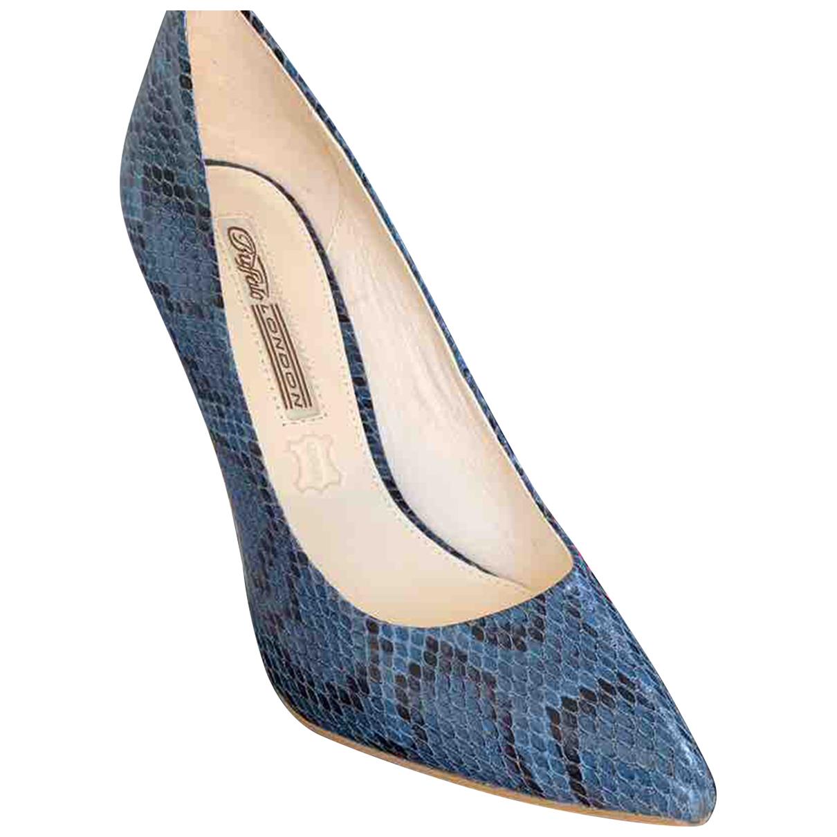 Buffalo N Blue Leather Heels for Women 39 EU