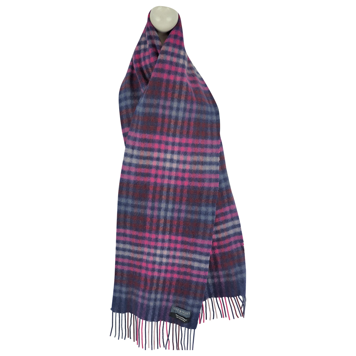 Lyle And Scott - Foulard   pour femme en cachemire - multicolore