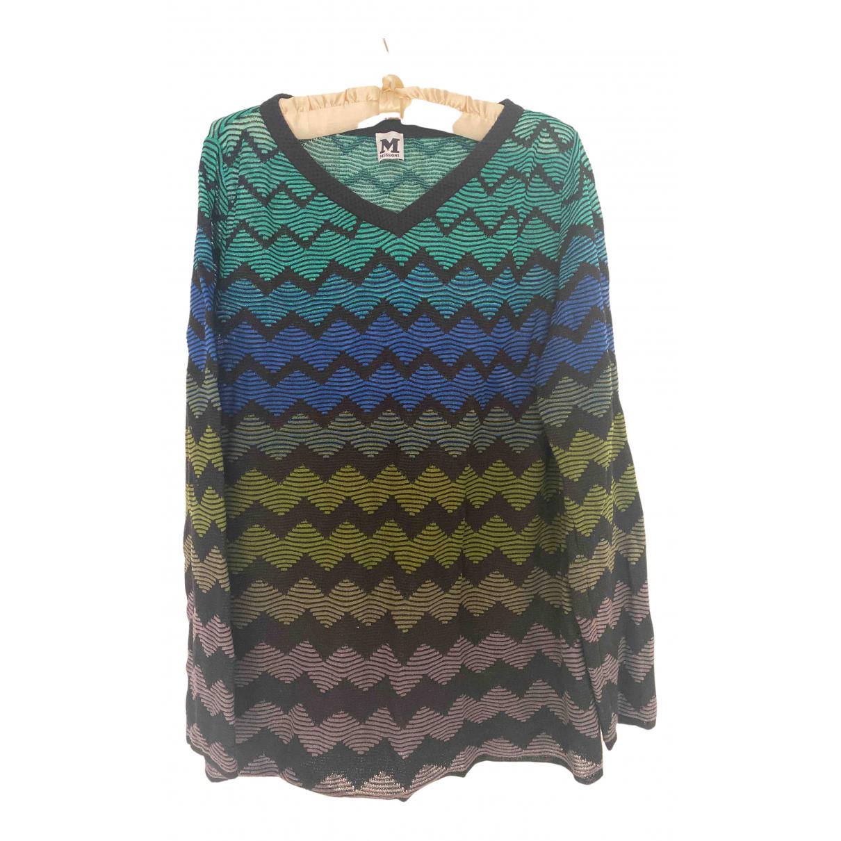 M Missoni - Pull   pour femme en coton - multicolore