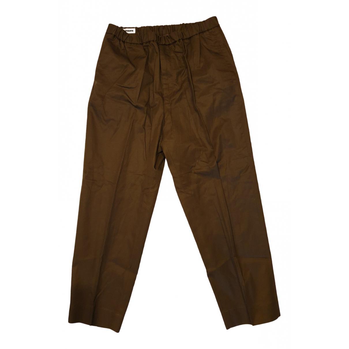 Jil Sander \N Khaki Cotton Trousers for Men 50 IT