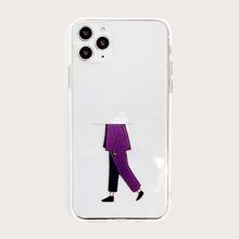 Boy Print Transparent iPhone Case