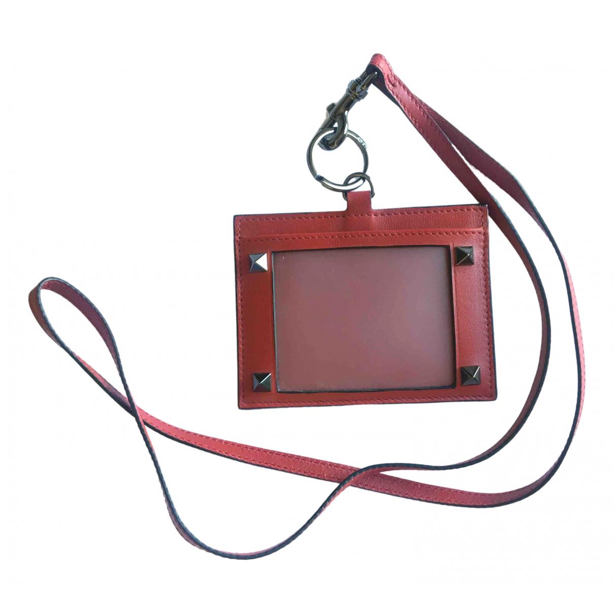 Valentino Garavani \N Kleinlederwaren in  Rot Leder