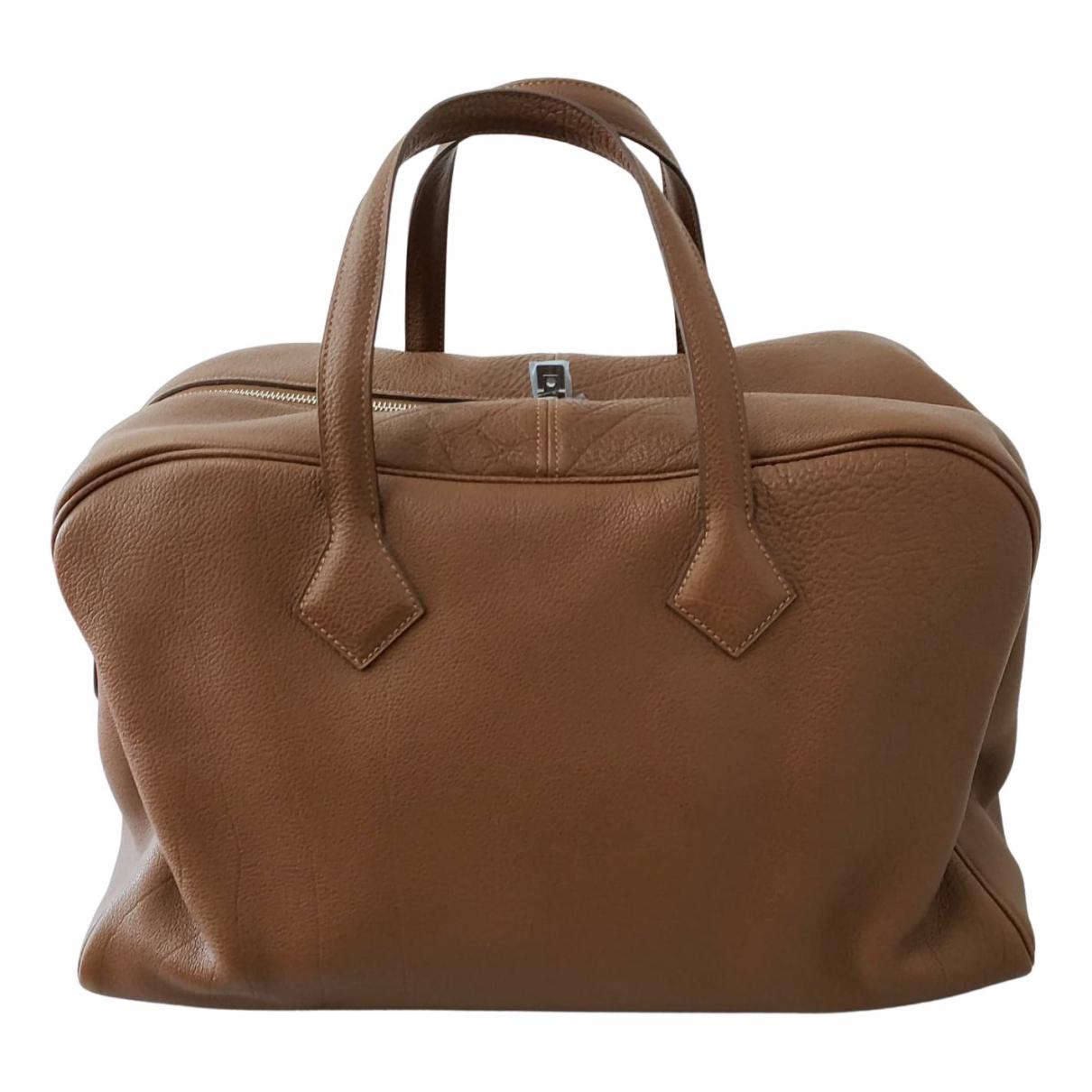Hermès Victoria Brown Leather handbag for Women N