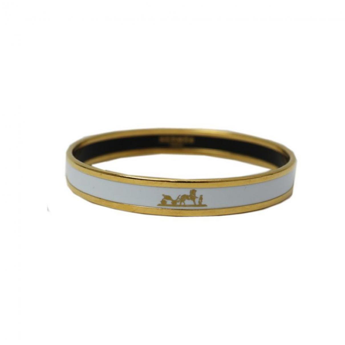Hermes \N Armband in  Weiss Metall