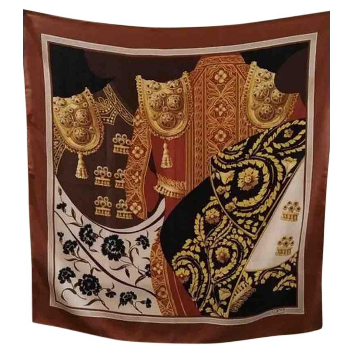 Loewe \N Brown Silk scarf for Women \N