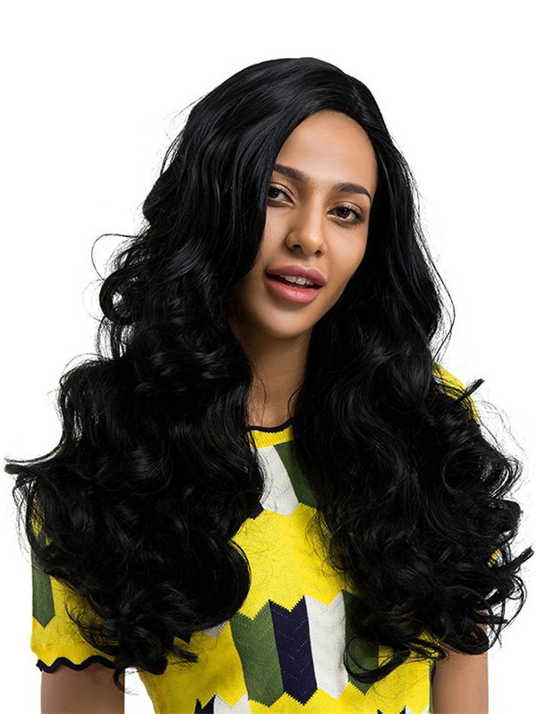 Side Part Long Body Wave Heat Resistant Fiber Synthetic Wig