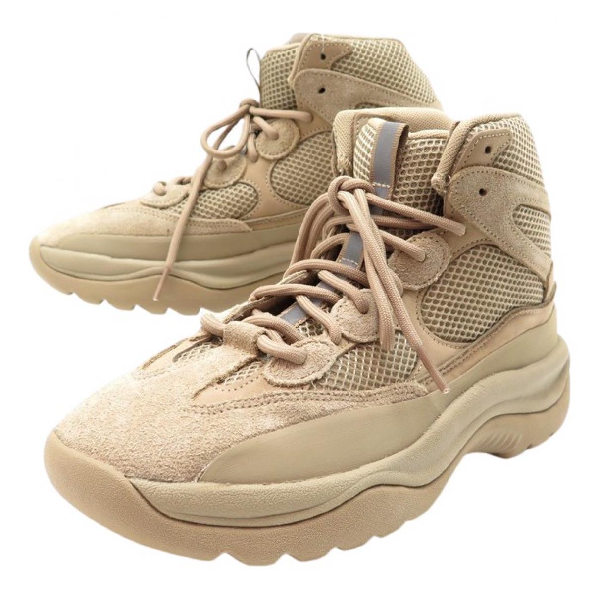 Yeezy X Adidas - Bottes.Bottines   pour enfant en toile - beige