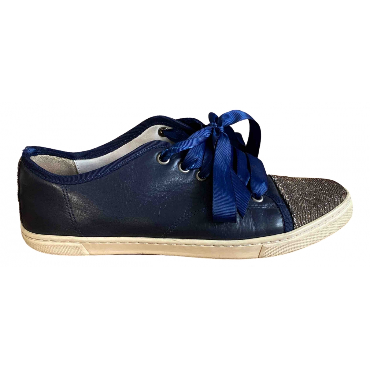 Lanvin \N Navy Leather Trainers for Women 37 IT