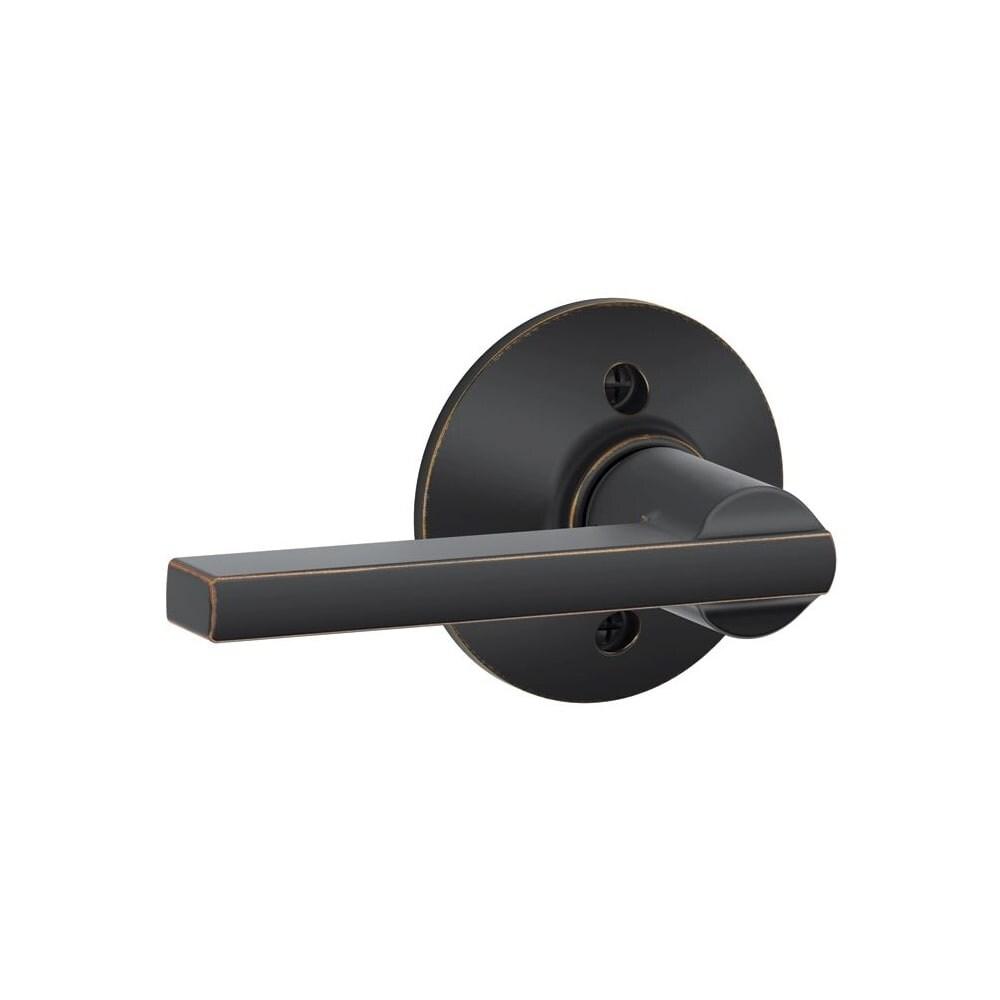 Schlage F170-LAT Latitude Non-Turning One-Sided Dummy Door Lever (Bright Chrome)
