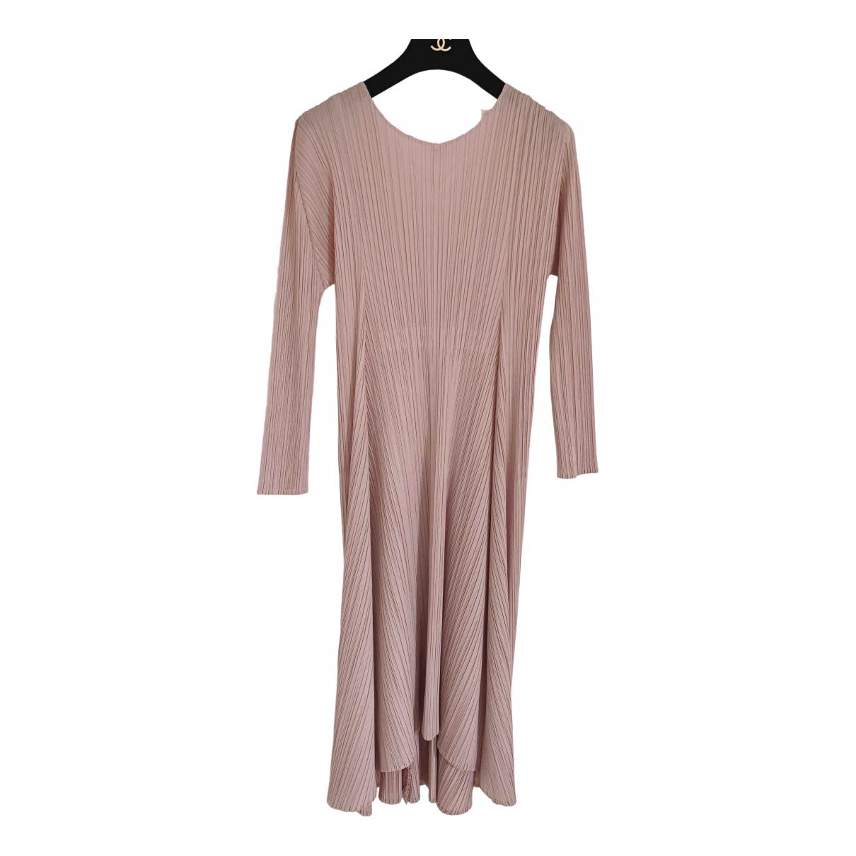 Pleats Please \N Kleid in  Rosa Polyester