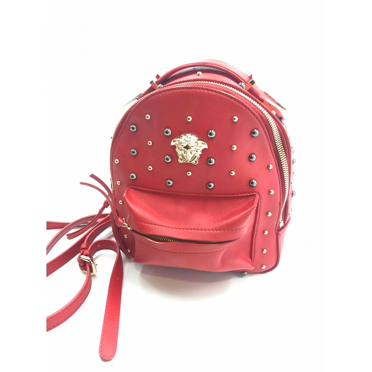 Versace \N Rucksaecke in  Rot Leder