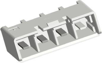 TE Connectivity , Power Key, 4 Way, 1 Row, Straight PCB Header