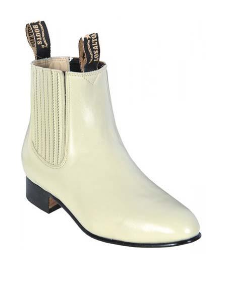 Los Altos Men's Genuine Deer Charro Leather Sole Short Boot