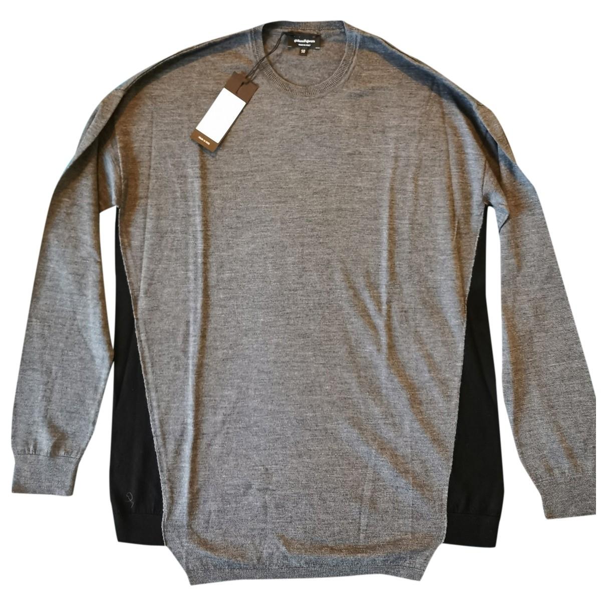 Giuliano Fujiwara \N Pullover.Westen.Sweatshirts  in  Grau Wolle