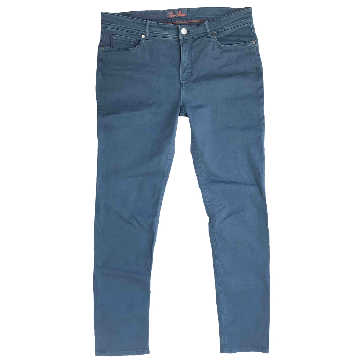 Loro Piana \N Blue Cotton Trousers for Men 48 IT