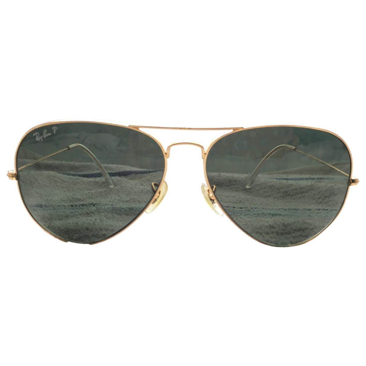Ray-ban Aviator Gold Metal Sunglasses for Women \N