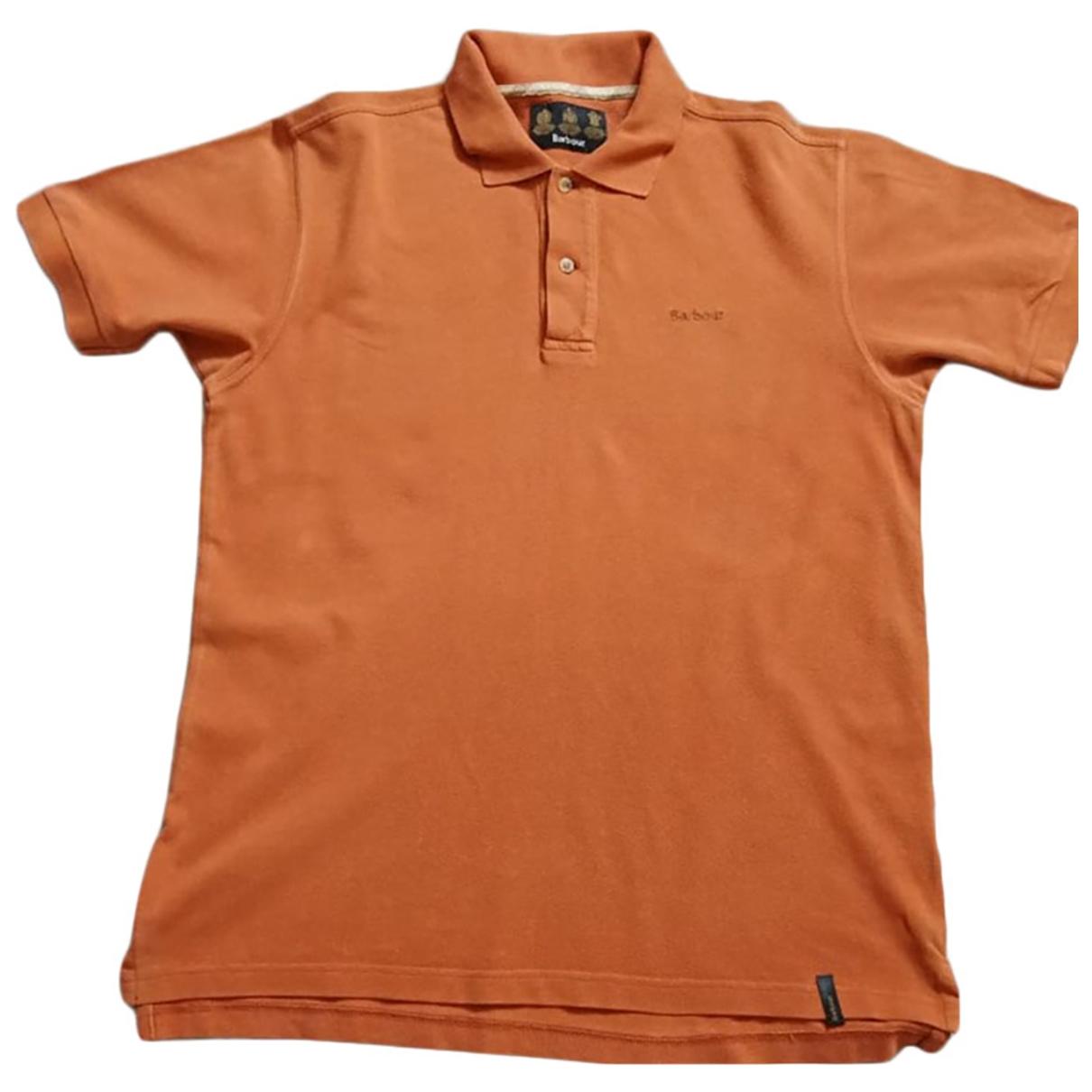 Barbour - Polos   pour homme en coton - orange