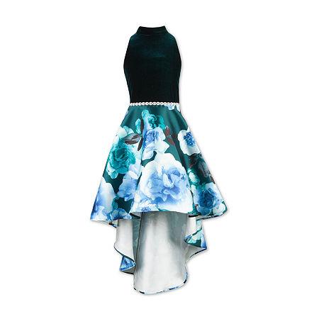 Speechless Big Girls Sleeveless High-Low Party Dress, 12 , Green