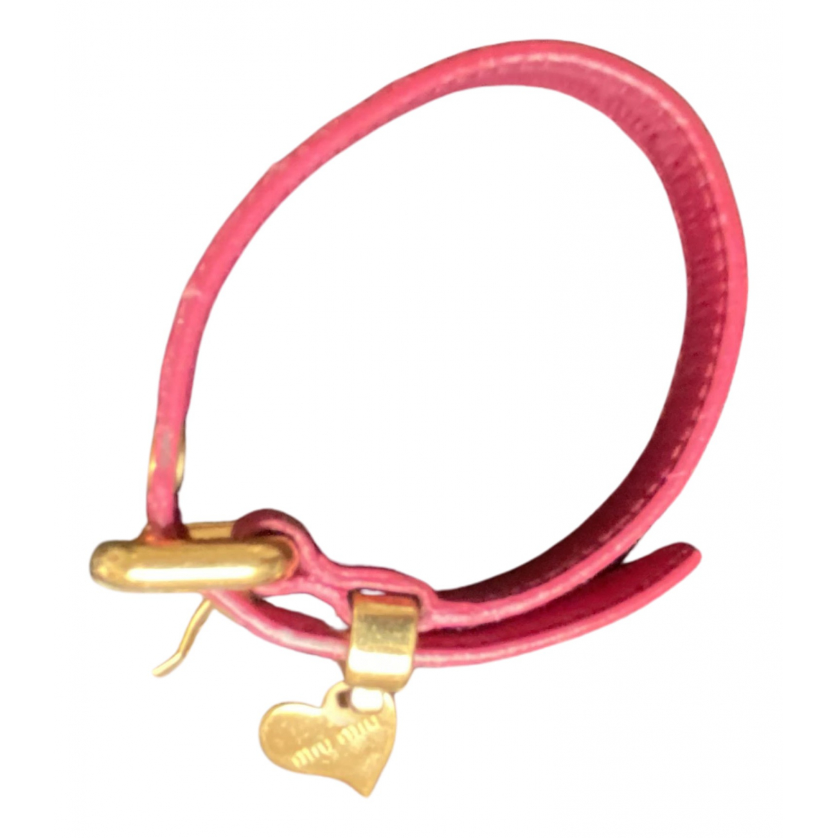 Miu Miu N Pink Leather bracelet for Women N