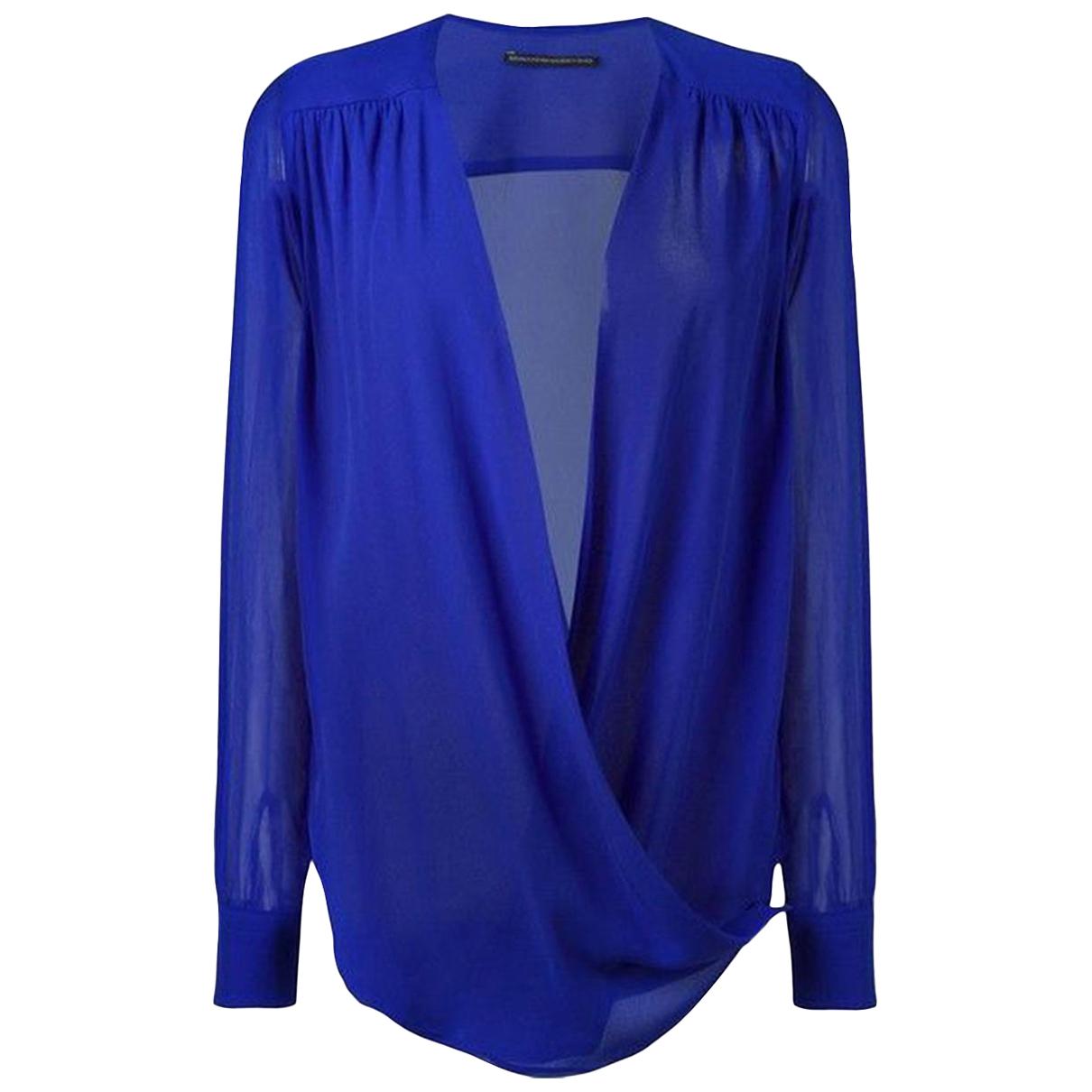 Ermanno Scervino \N Blue Silk  top for Women 38 IT