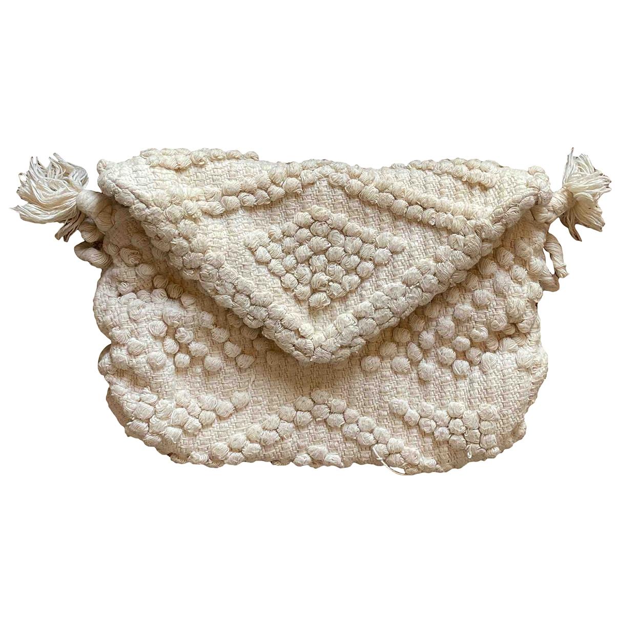 Antonello Tedde - Pochette   pour femme en coton - beige