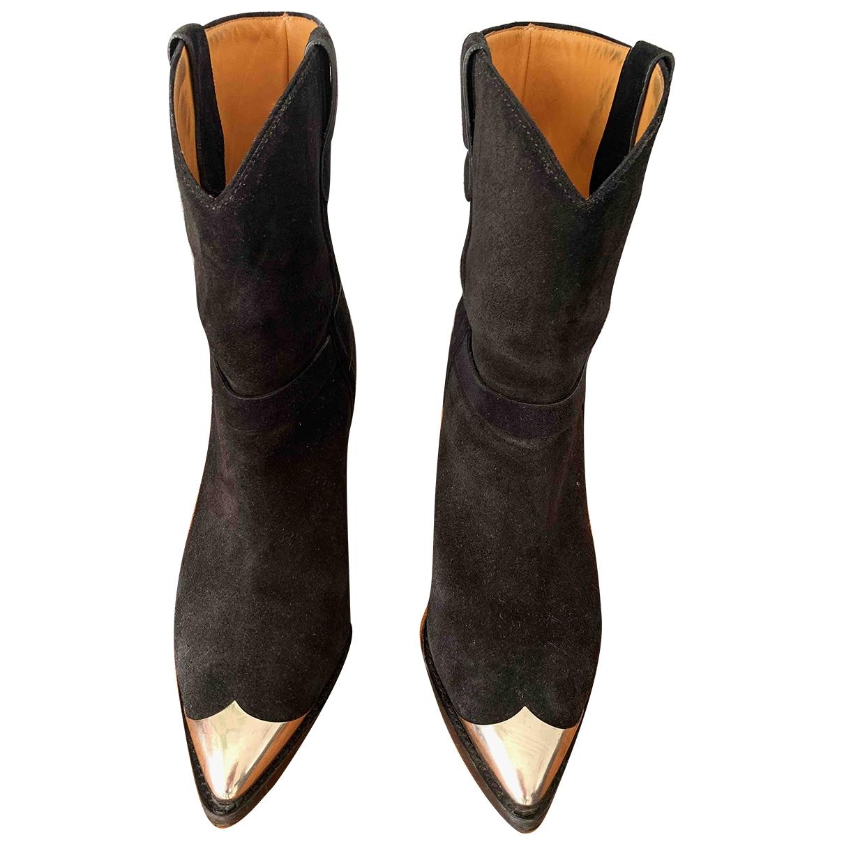 Isabel Marant - Boots Lamsy pour femme en suede - noir