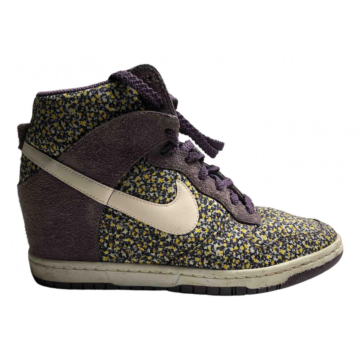 Nike SB Dunk  Sneakers in  Bunt Leinen