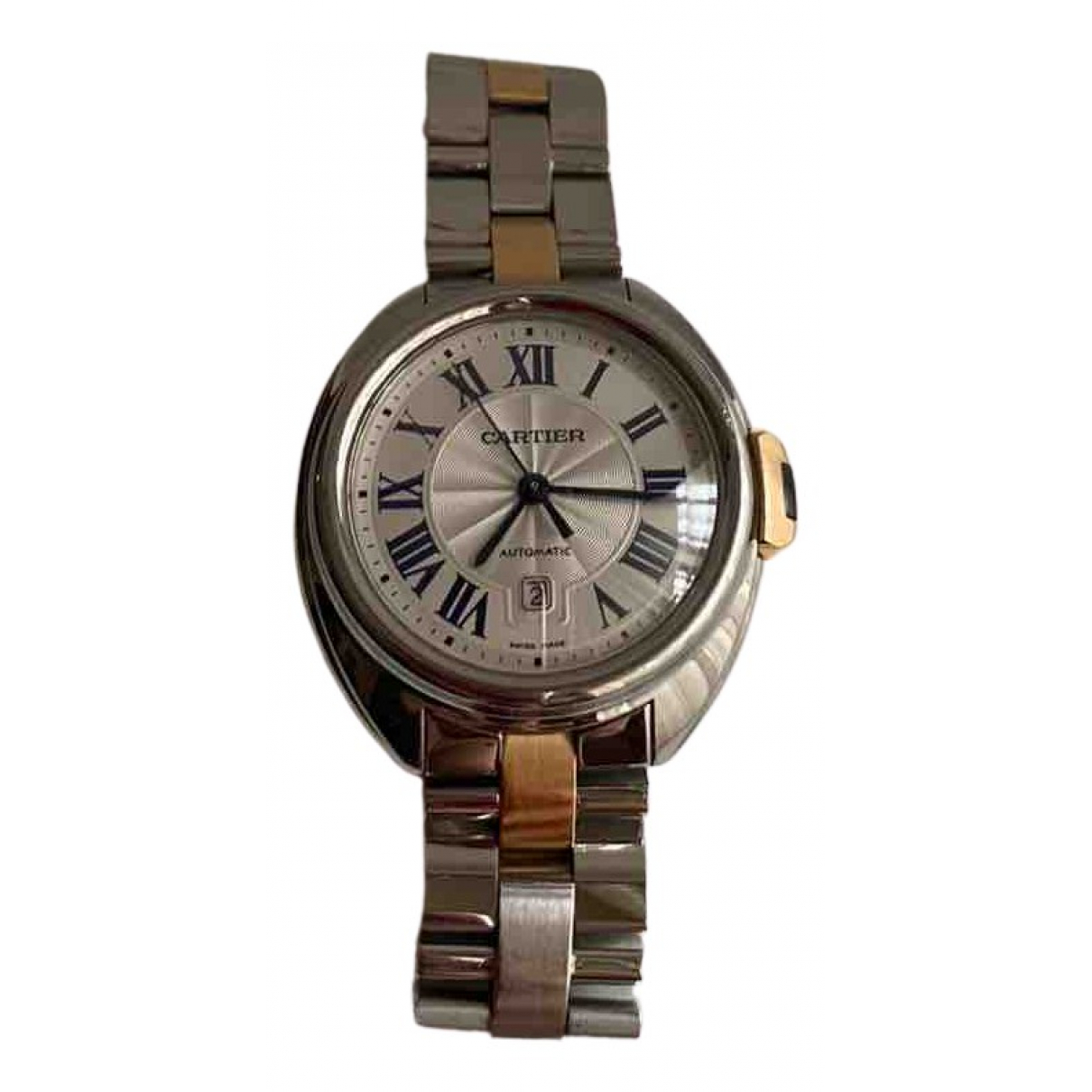 Cartier Clé Grey gold and steel watch for Women N